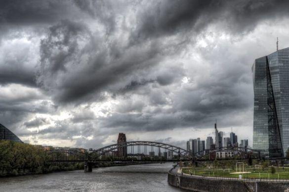 Frankfurt Bei Schlechtem Wetter