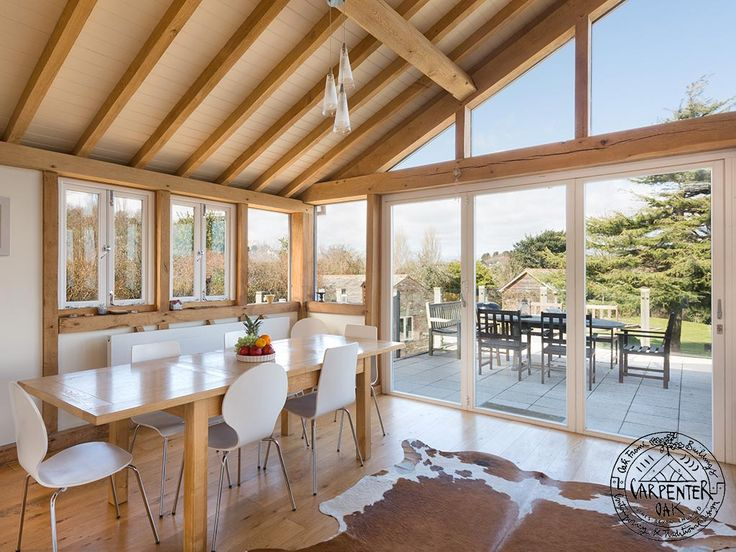 Oak Framed Extension in Self Build and Design now for sale