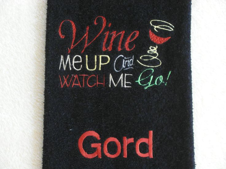A personal favorite from my Etsy shop https://www.etsy.com/listing/228951417/custom-golf-towel-personalized-golf