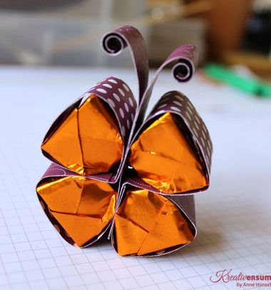 DIY Easy paper chocolate bonbon butterfly - gift idea // Egyszerű csokoládé pillangó - bonbon lepke (kreatív ajándék) // Mindy - craft tutorial collection // #crafts #DIY #craftTutorial #tutorial #easter #easterCrafts #DIYEaster
