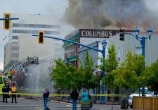 Firefighters were called to deal with a morning fire that destroyed the Columbus…