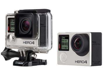 "Câmera Filmadora GoPro Hero4 Silver Edition 12MP - Visor 1,5"" Touch Filma Full HD 4k Wi-Fi"