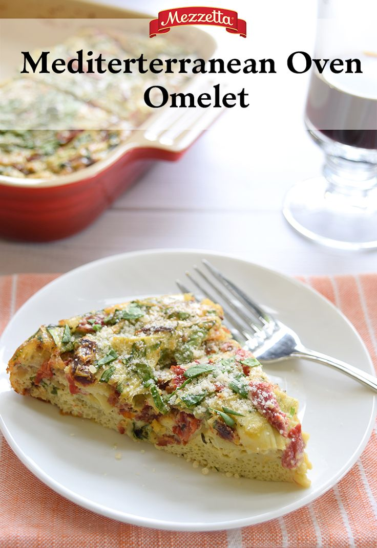Start your day off right with a mixture of eggs, roasted red peppers, sun-dried tomatoes and artichoke hearts. This Mezzetta Mediterranean Oven Omelet is an easy, protein-packed dish perfect for breakfast, lunch or dinner! Find out how to make your new favorite dish.