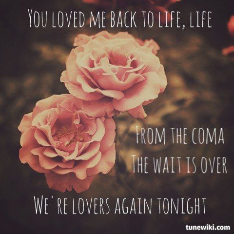 "-- #LyricArt for ""Loved Me Back to Life"" by Céline Dion"