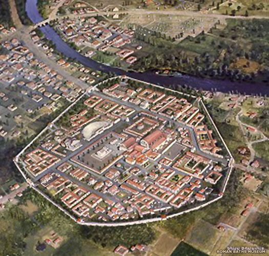 An artist's impression of Roman Aquae Sulis, later known as BATH