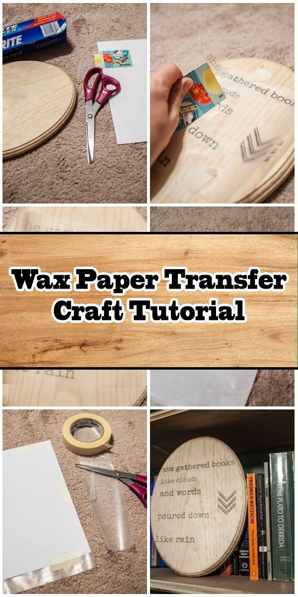 Wax Paper Transfer Craft Wax Paper Transfers Transfer Crafts