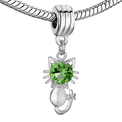 Pugster Cute Kitty Peridot Crystal August Birthstone Dangle Beads Fit Pandora Chamilia Biagi Charm Bracelet Pugster. $0.49. Pugster are adding new designs all the time. Money-back Satisfaction Guarantee. Fit Pandora, Biagi, and Chamilia Charm Bead Bracelets. Unthreaded European story bracelet design. Free Jewerly Box. Save 94% Off!