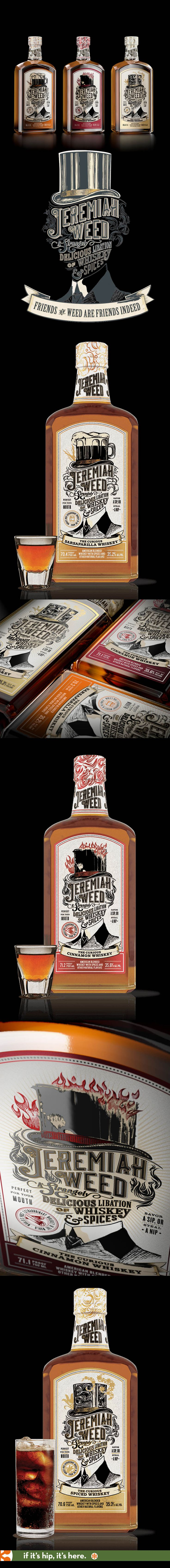 Force Majeur's beautiful design work for Jeremiah Weed Whiskies
