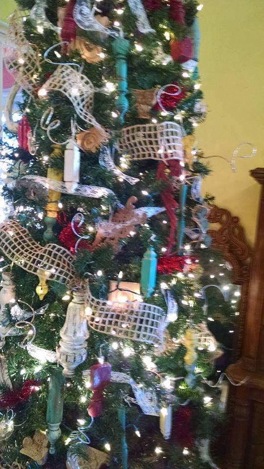 Antique Furniture Parts Make Beautiful Christmas Ornaments