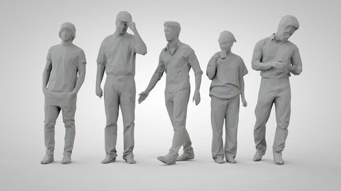 set of low poly people 17 | 3D Model