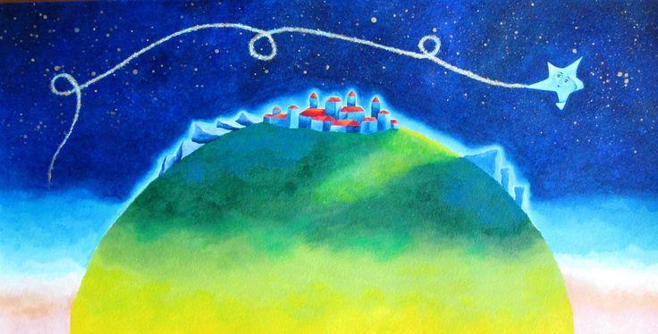Sofia Filea www.facebook.com/sofiafileasart illustration, christmas, star, bethlehem start, jesus birth,