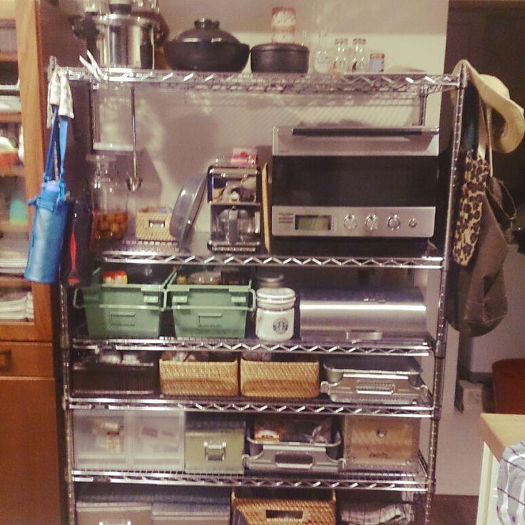IKEA/無印 /生活感たっぷり/メタルラック/TRUSCO/キッチン収納…などのインテリア実例 - 2014-04-07 22:28:36 | RoomClip(ルームクリップ)