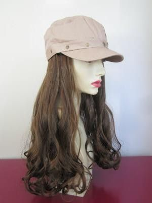 """#Brown Studded Cadet  Hair Length: 14"""" Straight with Curled Ends Hair Color: Dark Brown with Light Brown Highlights Kanekalon Hair Fiber- highest quality synthetic hair fiber available."""