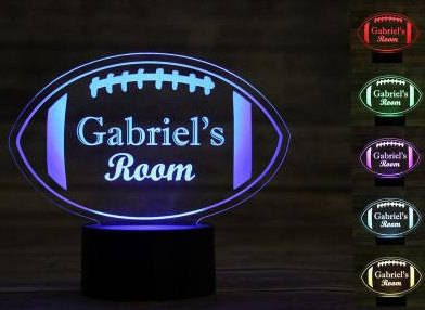 Engraved light up LED signs These table top light up signs are laser engraved onto acrylic for a clean design. 7 color settings to chose from or let it rotate between colors on its own for a fun ambiance! These personalized acrylic signs make a perfect housewarming gift, wedding present to commemorate those special dates, or night light for any child. ~ ITEM SPECIFICATIONS ~ • 7 Color changer • Chargers through USB • Approximately 7 x 9- each unit dimensions according to the design…