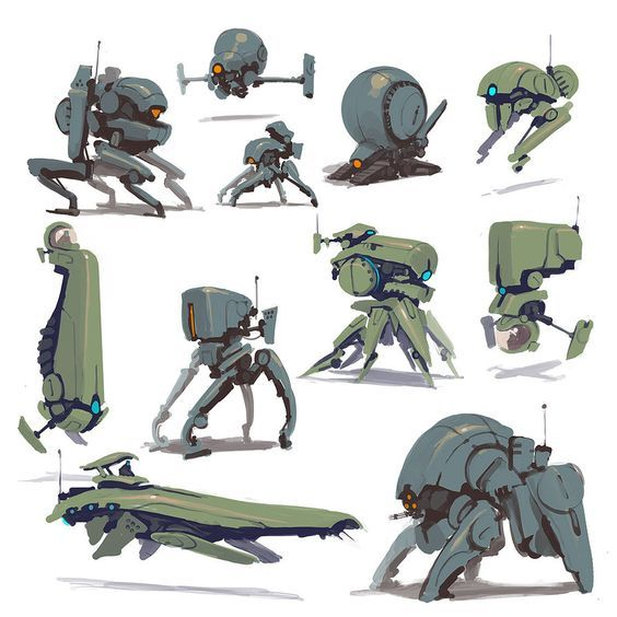 how to draw sci fi robots