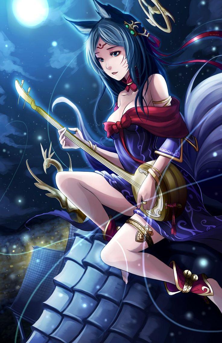 League of Legends - Moonlight Ahri by El-Seluvia.deviantart.com on @deviantART