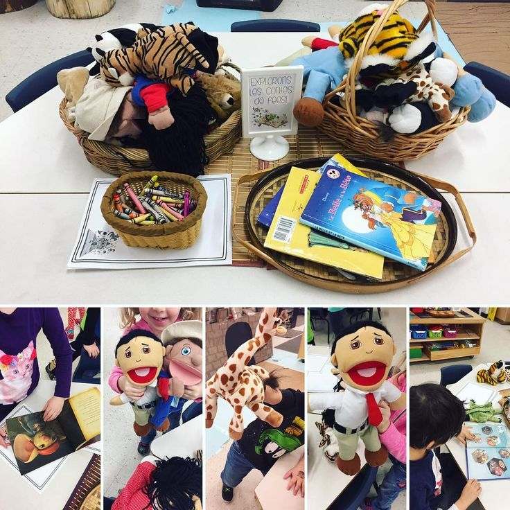 "33 Likes, 1 Comments - Laura King (@kindergartenteachertired) on Instagram: ""Puppets, fairytale books and paper and crayons to begin exploring les contes de fées! This week we…"""