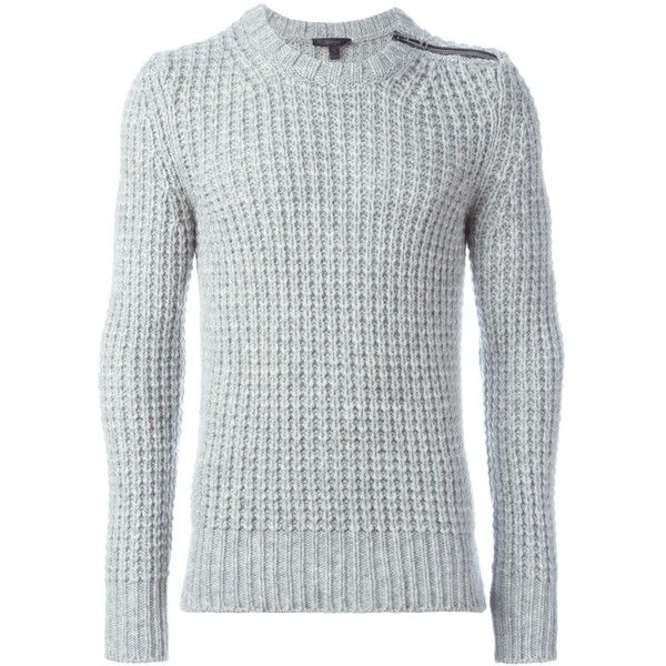 Belstaff zip detail sweater Eraldo (40005 RSD) ❤ liked on Polyvore featuring tops, sweaters and belstaff