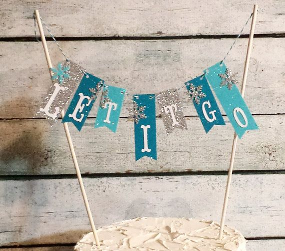 Cake Bunting frozen Let It Go Glitter Paper Cake by SoftHeartGifts
