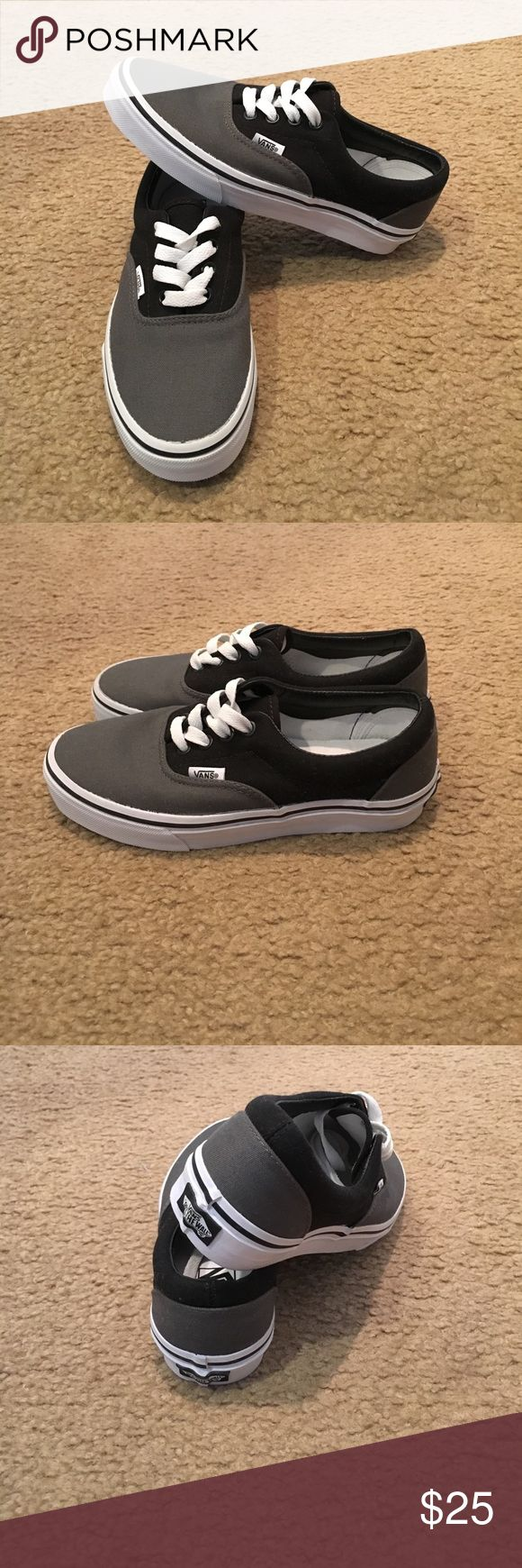Authentic grey/black Vans New with out box. Men's 4 women's 5.5 Vans Shoes Sneakers
