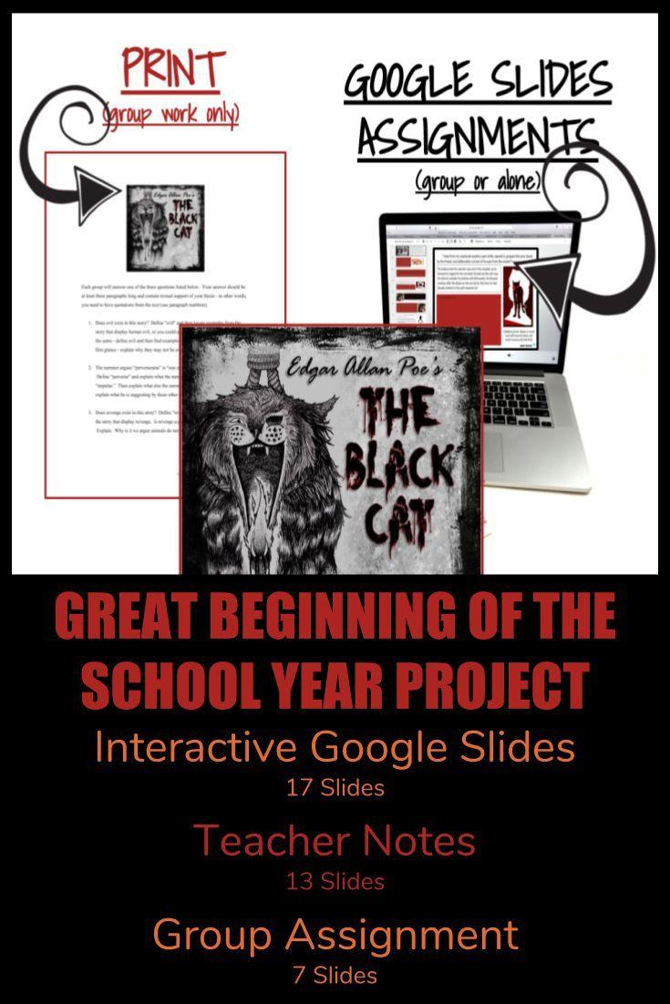 Black Cat (Google Slides Interactive Unit) | Higher Order Thinking