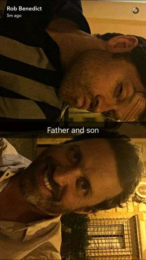 supernatural, misha collins, and rob benedict image