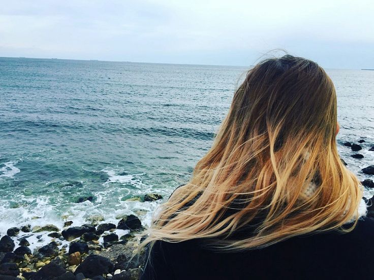 #aesthetic #ombrehair #friends #girls  #sea