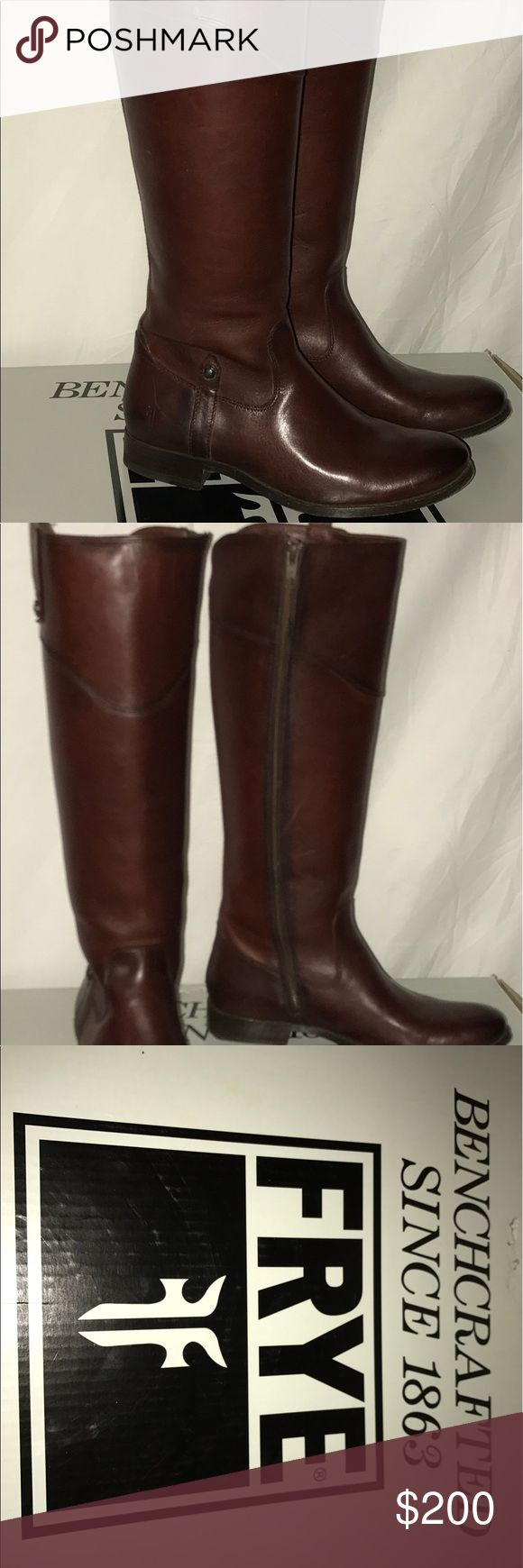 Nib FRYE MELISSA TAB BOOTS NIB FRYE Boots (worn out of store once) excellent condition!!!! Frye Shoes Heeled Boots