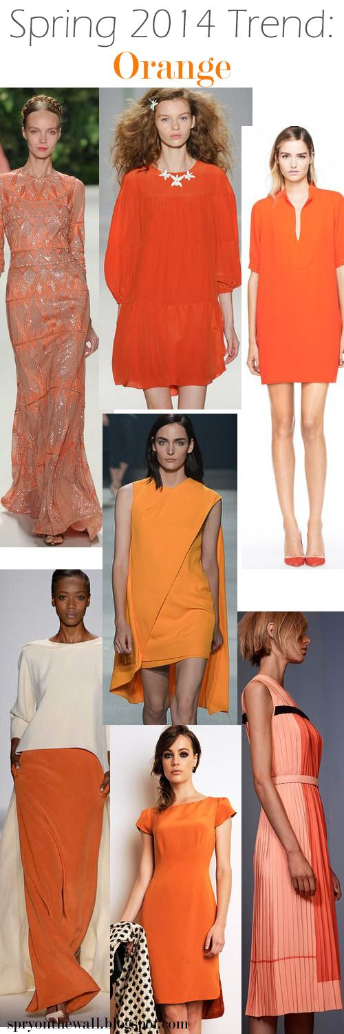 Spring 2014 NYFW color trend - Orange via Spry On The Wall