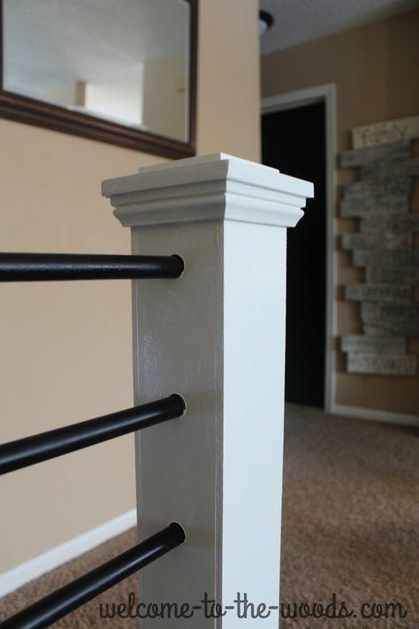 Best Stair Railing Diy Makeover Stair Railing Makeover Diy 400 x 300