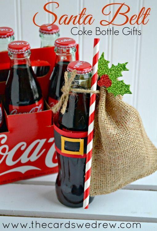 Santa Belt Coke Bottle Gifts -cute!