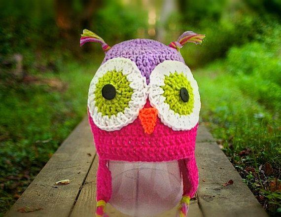 cable knit owl hat owl hat girls owl hat baby girls owl hat child/'s owl hat beige owl hat Knit owl hat owl bonnet babies owl hat