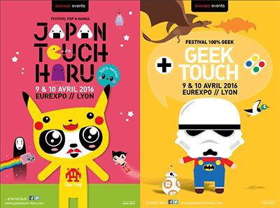 Japan Touch Haru / Geek Touch à Lyon les 8, 9 avril - Pour la 3ème année consécutive, le rendez-vous des mordus de jeux vidéo est donné ! La Japan Touch Haru revient les 9 et 10 avril 2016 et voit double avec le lancement d'un tout nouveau salon : la ...