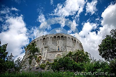 La torre rotonda al castello di Windsor in Berkshire