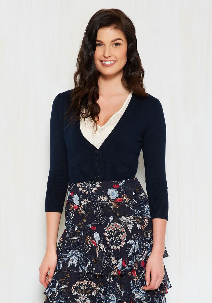 The dream of the crop cardigan in navy looking for a stylish navy