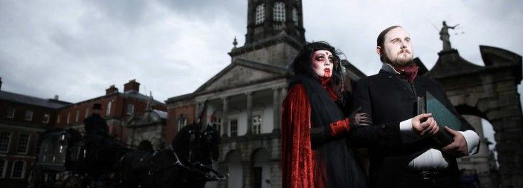 The three-day festival will peel back the layers of the city to reveal Stoker's Dublin. The streets will come alive with free pop-up performances of spine-chilling street theatre and sinister sounds, a city-wide Vampire Hunt for families and friends, spooky movies in the open-air, blood curdling literary happenings, terrifying theatre, haunted walking tours and a very special event will take place in the spectacular surrounds of Dublin Castle.