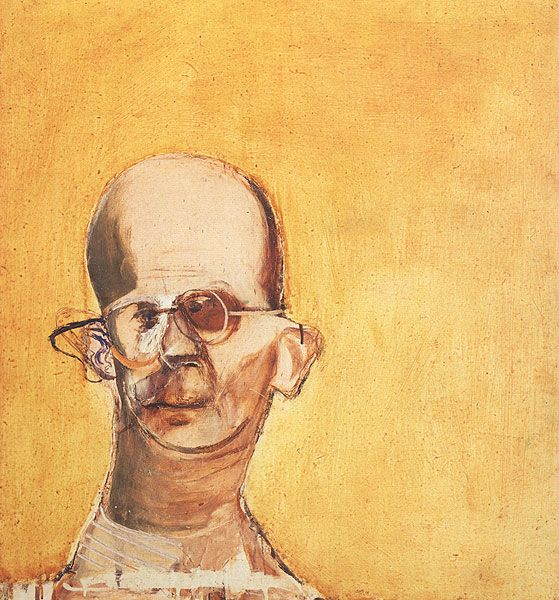 Brett Whiteley - Head of Christie - 1964  Oil on Board, 69.9cm x 60.9cm