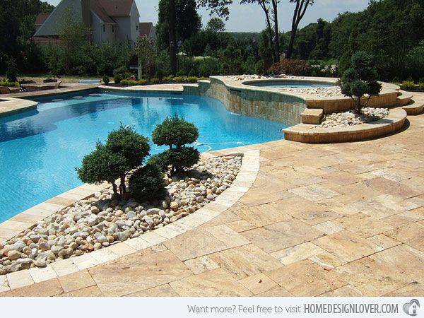 20 best images about river rocks landscaping on pinterest for Garden rock pool