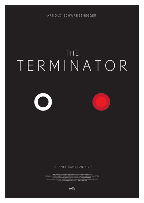 Minimalist Terminator Poster by Christopher Conner | Live for Films