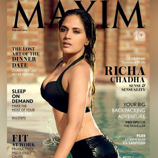 Richa Chadda Shows Off Her Bikini Body On Latest Maxim Cover!