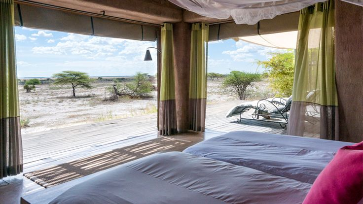 Your bedroom at Onguma The Fort in Etosha National Park #namibia #luxuryretreat