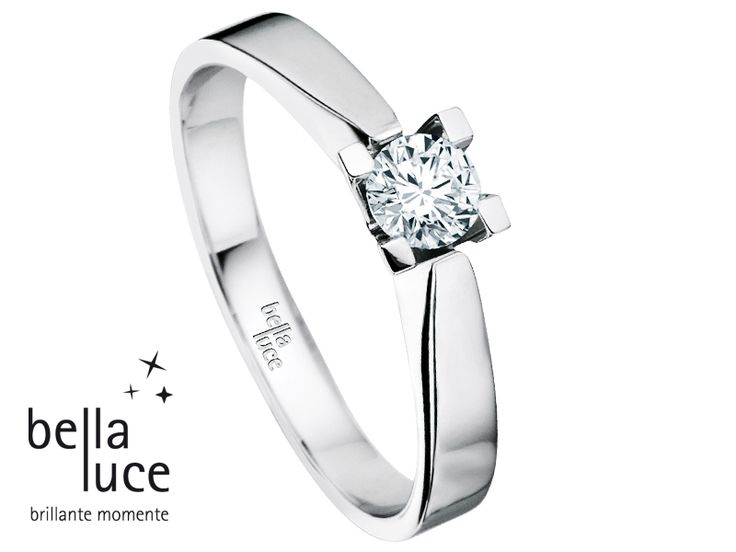 bellaluce solitaire ring: white gold, brilliant cut diamond. A solitaire is worth a thousand words. #bellaluce #solitaire #ring #diamonds #engagement