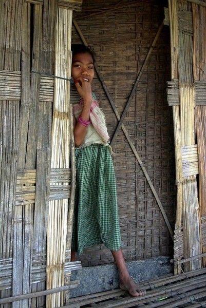 Shy Mishing tribe girl