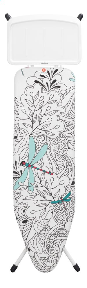 Strijkplank Dragon Fly van Brabantia met strijkblad van 124 x 38 cm en met stevige, metalen houder voor je stoomgenerator. #Botanical #Strijkplank #Plancheàrepasser #Botanisch #Botanique #Collishop