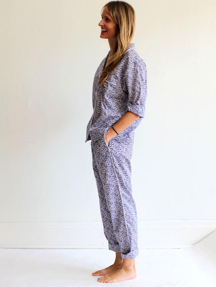 Sleepy Jones Pajama Set - Liberty Floral Glenjade Navy