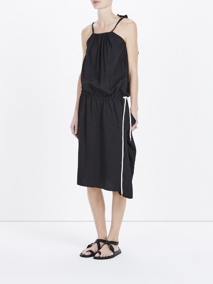 viscose drawstring sack dress