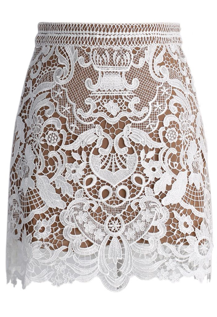 Baroque Lace Bud Skirt