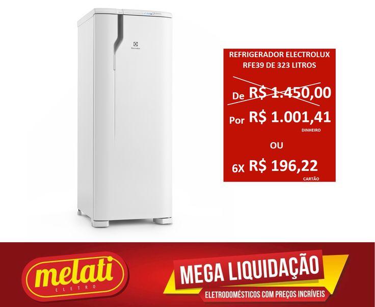 SALDÃO REFRIGERADOR ELECTROLUX RFE39 DE 323 LITROS ========================================== CLASSIFICAÇÃO DO PRODUTO SALDO => https://www.melatieletro.com.br/pagina/nossos-produtos.html  ==========================================  📌 ❶ A͟͟N͟͟O͟͟ D͟͟E͟͟ G͟͟A͟͟R͟͟A͟͟NT͟͟I͟͟A͟͟ CONTRA DEFEITO FUNCIONAL  ==========================================  🚛 F͟͟R͟͟E͟͟T͟͟E͟͟ G͟͟R͟͟A͟͟T͟͟I͟͟S͟͟ consulte as regras do frete grátis ==========================================  📍ENDEREÇO DA LOJA   RUA INGÁ…