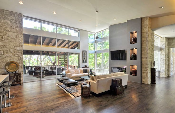 Contemporary Stratford Residence by Cornerstone Architects, Texas