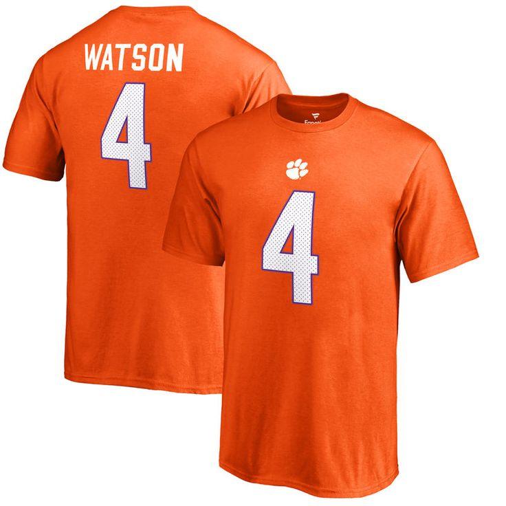 DeshaunWatson Clemson Tigers Fanatics Branded College Legends Big & Tall T-Shirt - Orange